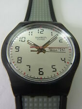 SUJB703 Swatch - 2007 Jelly In Jelly Grey Relief Date & Day Swiss Made Authentic
