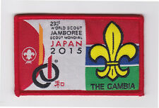 2015 World Scout Jamboree AFRICA GAMBIA / GAMBIAN SCOUTS Contingent Patch
