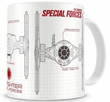 STAR WARS EP7 SPECIAL FORCES BLUEPRINT WHITE-RED CERAMIC MUG