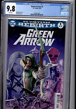 GREEN ARROW  #1 DC COMICS REBIRTH 2016 CGC 9.8