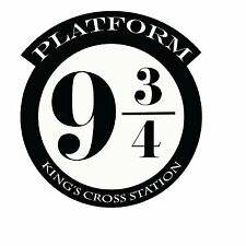 Platform 9 3/4 Version 1 Harry Potter Decor - Wall Decal Vinyl Sticker