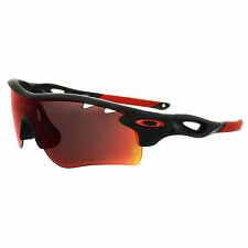 Oakley Sunglasses Radarlock Path OO9181-23 Black Ink OO Red Polarized & Black