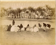 ARNOUX albumen: 658 Women collecting water from the banks of the Nile, Aswan