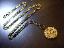 Steampunk Watch movement Necklace Costume Jewellery Pendant Medallion Medal