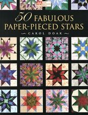 50 Fabulous Paper-Pieced Stars [With CDROM] by Carol Doak Paperback Book (Englis