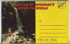 Vintage 1957 Fold-Out Postcard View Book EAST END MICHIGAN'S UPPER PENINSULA