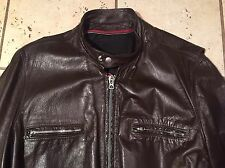REED Vintage 50's 60's 70s Leather Motorcycle Cafe Racer Jacket  Size Large