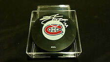 Brian Gionta autographed Official Montreal Canadiens Puck COA!