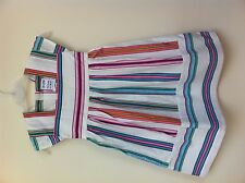GIRLS JOULES SUMMER PARTY MULTI STRIPE DRESS  LABELLED 6 7 8 YRS UNWANTED GIFT