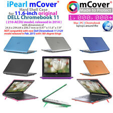 "NEW iPearl mCover® Hard Shell Case for 11.6"" Dell Chromebook 11 210-ACDU laptop"