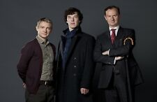 "BBC SHERLOCK UK Imported 17"" X 11"" Holmes, Watson, and Mycroft Poster Print"