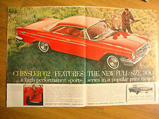 1962 Chrysler New 300 Ad A High Performance Sports Series Hunting Theme