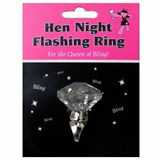 HEN PARTY NIGHT ACCESSORIES FLASHING DIAMOND RING NOVELTY BRIDE TO BE GIFT