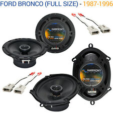 Ford Bronco (Full Size) 1987-1996 Speaker Upgrade Harmony R65 R68 Package New