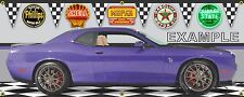 2016 DODGE CHALLENGER PLUM CRAZY HELLCAT CUSTOM SCENE BANNER SIGN ART 2' X 5'