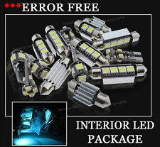 8x Bulbs For AUDI A3 8P 2003-2012 INTERIOR PACKAGE XENON ICE BLUE LED LIGHT KIT