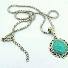 Style Vintage Elegant women Turquoise Necklaces Classical Brand New