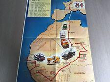 RARE POSTER A2 CARTE PARCOURS  Rally Paris Dakar 1984