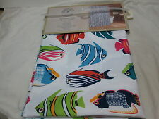 Caribbean Joe Island Supply Co RAINBOW FISH Fabric Shower Curtain ~ Multi Colors