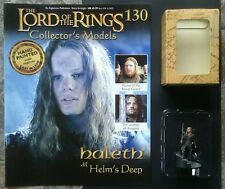 LOTR Collectors Models #130 Haleth at Helms Deep Boxed & Magazine ULTRA RARE