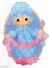 """4"""" PRECIOUS MOMENTS GIRL  NURSERY CHARACTER  PEEL STICK WALL BORDER CUT OUT"""