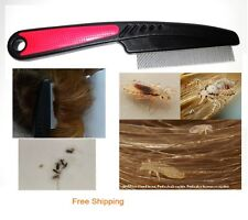 Lice Treatment Comb for Head Lice ,Lice Removal, Stainless Steel Metal