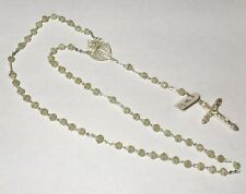 Vintage 1960's NOS Sterling Silver & 6mm Beads Spanish Rosary