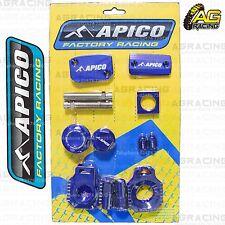 Apico Bling Pack Blue Blocks Caps Plugs Clamp Cover For Husaberg TE 125 2012