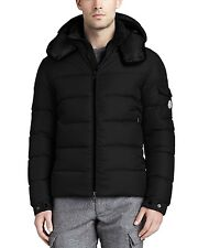 Moncler Himalaya Men's Quilted Down Coat 4 US XL Slim Fit Black Snap Hood Jacket