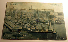 Color Postcard of Circular Quay w/10 B&W pictures in Sydney, Australia from 1910
