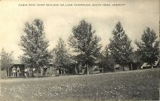 A View of Cabin Row, Camp Skyland On Lake Champlain, South Hero VT 1938
