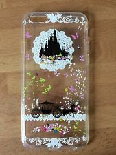 Disney cinderella castle & transport clair silicone gel case for iphone 6/6s. bn