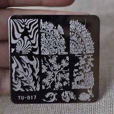 Nail Art Stamping Plate Zebra Pattern Butterfly Rabbit Konad Plate DIY Nail TU17