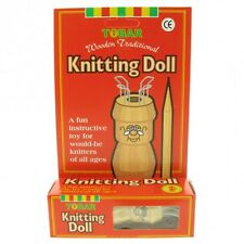 Knitting Doll, traditional wooden doll, Wooden Needle, Wool all Boxed