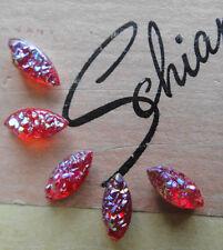 Authentic Vtg Schiaparelli Red Moon Rock Marquis Stone - Jewelry Repair UNUSED