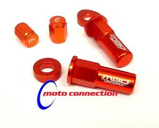 MBO SPORT ORANGE RIM LOCK NUT AND VALVE CAP KIT FOR KTM EXCF250 EXCF350 EXCF525