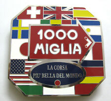 CAR BADGE -1000 MIGLIA CAR GRILL BADGE EMBLEM MG JAGUAR TRIUMPH PORSCHE FERRARI