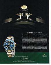 PUBLICITE ADVERTISING 075  2009  ROLEX  montre OYSTER PERPETUAL SUBMARINE DATE