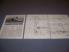 """VINTAGE..FOLKERTS SK-3 """"JUPITER""""..5-VIEWS/SPECS/DETAILS..RARE! (450)"""