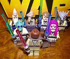 Star Wars Custom Jedi Knights Master Minifigure Lot For Lego Sets !!