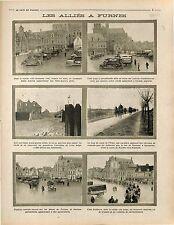Alliés Furnes Veurne Belgique Convoi Ambulance Canal de l'Yser Flandre 1914 WWI