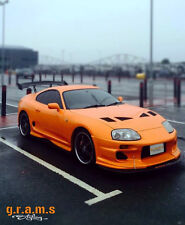 Toyota Supra MK4 Front Bumper Splitter / Lip with Pair of RODS INCLUDED v4