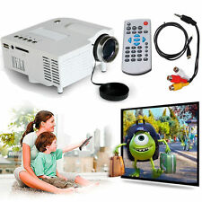 New Mini 1080P HD UC28+ 48lm LED Projector Home Cinema Theater PC VGA HDMI White