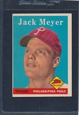1958 Topps #186 Jack Meyer Phillies EX 58T186-82715-4