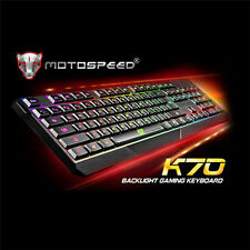 MOTOSPEED 7 Color LED Illuminated Backlight USB Wired Gaming Keyboard PC Laptop