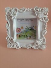 Vintage Style, White Mini Photo Frame (square)