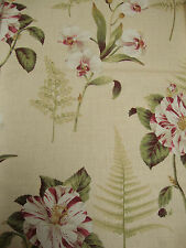 82cm SANDERSON Lavinia Fern vintage shabby chic linen upholstery fabric remnant