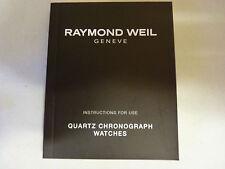 Raymond Weil Cuarzo Cronógrafo Relojes-Manual de instrucciones