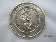 """PRE- EAGLE MEXICO """" DECAPITATED MAYAN HEAD"""" STERLING  PIN/ PENDANT W/ 30"""" CHAIN"""
