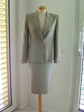 MAX MARA- Pale Sage Green- Silk & Cotton Blend Jacket + skirt suit - US 8 / UK10